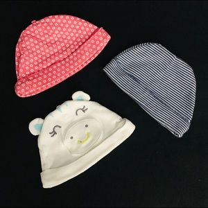 Lot of 3 Infant Hats